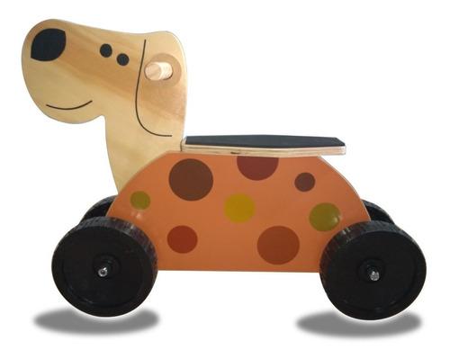 Imagen 1 de 3 de Pata Pata Andarin Caminador De Madera Woodymoto Doggy