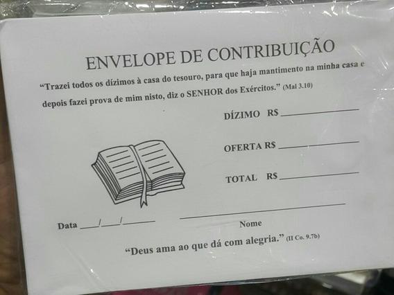 Envelopes Contribuição Dízimos E Ofertas 100 Unidades