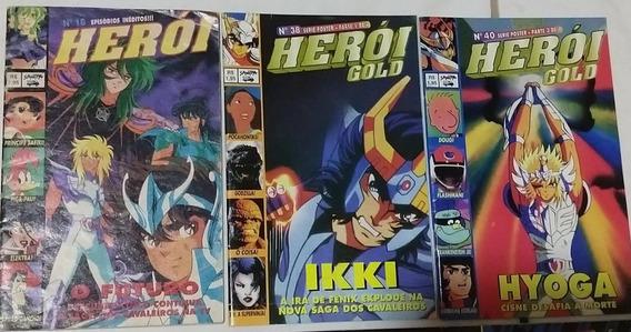 Revista Herói Gold Cavaleiros Do Zodíaco E Outros