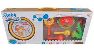 Kit Instrumentos Musicales Juguete Infantil Bebes X 6 Piezas