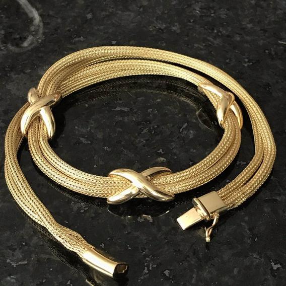 Colar Em Ouro 18k-750 Peso: 41.3 Gramas
