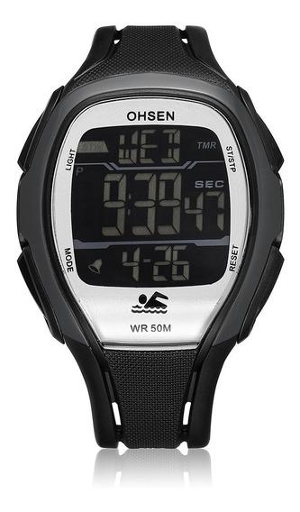 Relógio Masculino Ohsen Digital 1802 - Cinza E Preto
