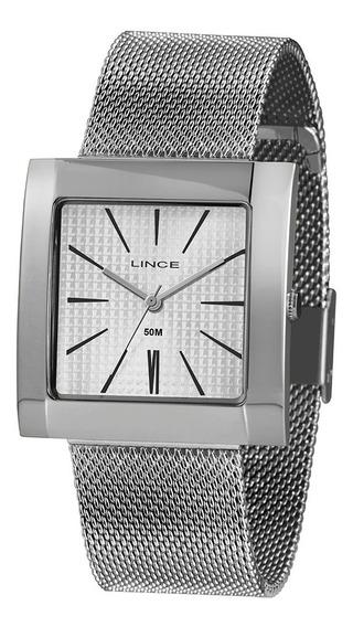 Relógio Lince Quadrado Feminino Lqm4654l B1sx Garantia + Nfe