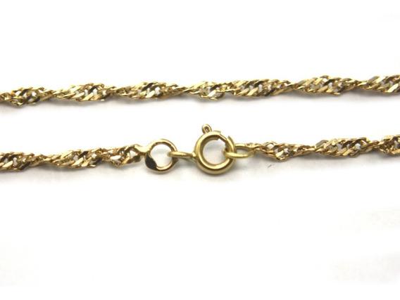 Oferta Corrente Elo Singapura Diamantado Ouro Amarelo D823