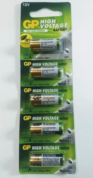Bateria P/controle De Portão 23a, 12v, Gp, Cartela C/ 5
