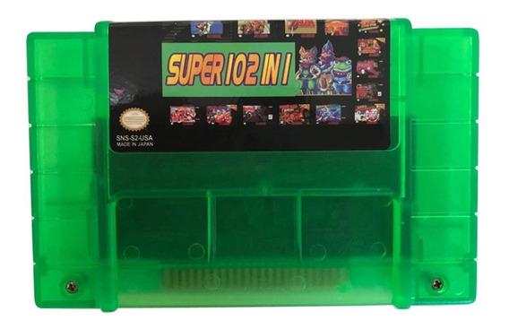 Cartucho Fita 100 Em 1 Super Nintendo Snes Multi Jogos