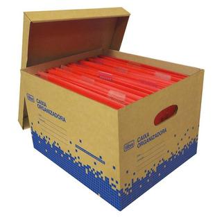 Caixa Organizadora Papelao Kraft Grande Tilibra C/20 Pastas