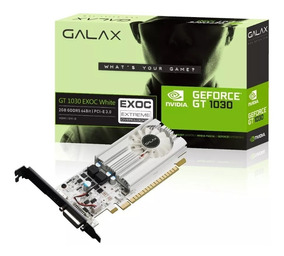 Placa De Vídeo Gt 1030 Exoc White 2gb Ddr5 64bits Galax