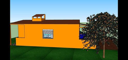 Imagem 1 de 6 de Projeto Completo De Casa Residencial Com Dois Quartos