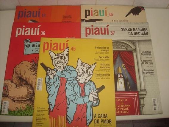Kit 5 Revistas Piauí - Nº 16,35,36,37 E 45 - Promoção!!!