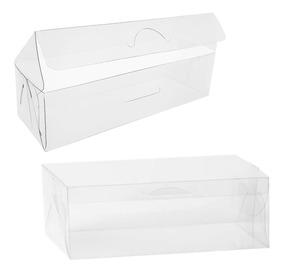 50 Caixas Caixinhas De Acetato Transparente Medida 10x5x4 Cm