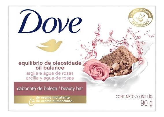 Sabonete Dove Oleosidade Argila E Água De Rosas - 90g