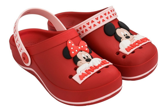 Babuche Chinelo Grendene Infantil Disney Mickey Minnie 21969