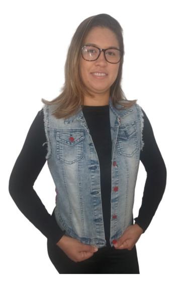 Colete Femenino 3/4 Jeans Curto Cropped Fenda Top Barato