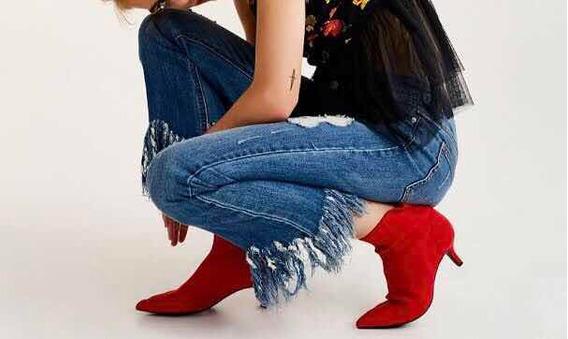 Jeans Desflecados, Tiro Alto, T 28/29 Mujer