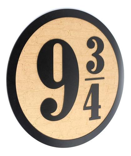 Imagem 1 de 6 de Harry Potter Quadro Porta Mandala Plataforma 9 3/4 Mdf 50cm