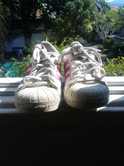 Tênis adidas Original Branco E Rosa.