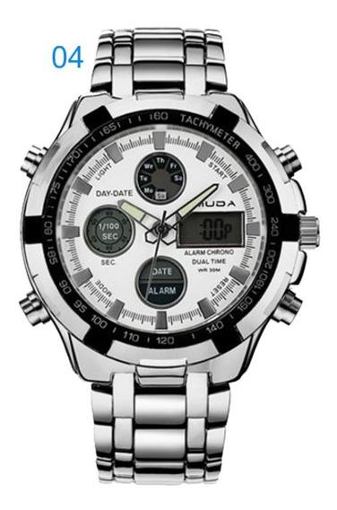 Relógio Masculino Amuda 2002 Social Aço Inox Sku108