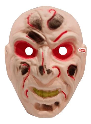 Máscara Zombie Terror Disfraz Halloween - Ciudad Cotillón