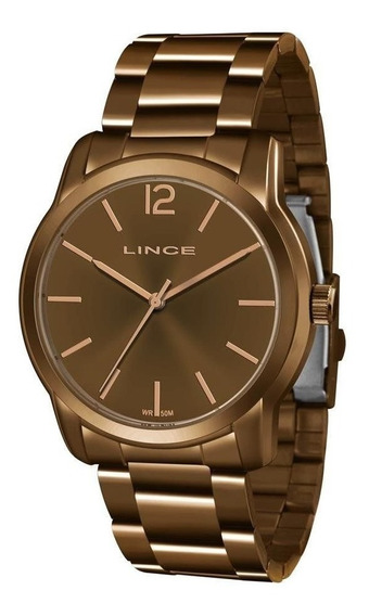 Relógio Dourado Feminino Lince Lrb4449l N2nx Analógico