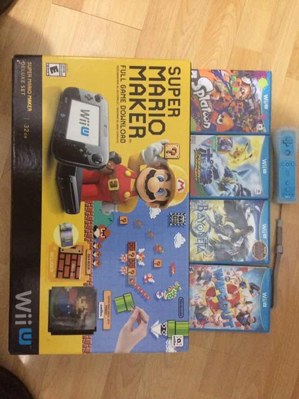 Wii U: Deluxe Set Super Mario Maker + 5