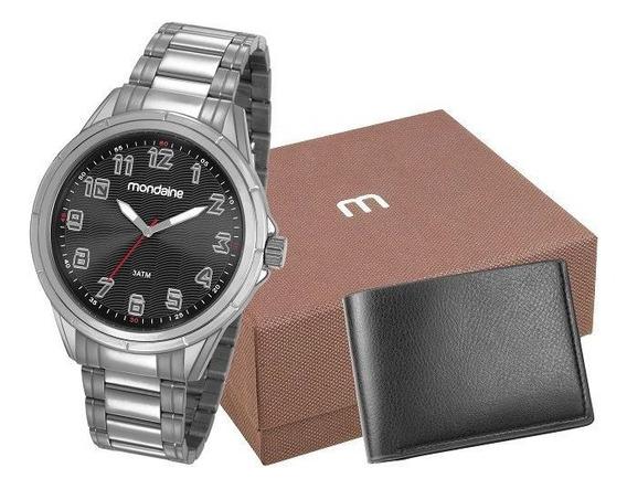 Kit Presente Relógio E Carteira Mondaine 83437g0mvne1k