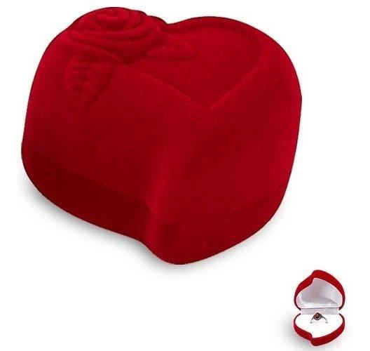 Estuche Para Joyeria Corazon Rojo, Caja Para Aretes