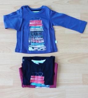 Remera Bebé Recien Nacido Varon Manga Larga Camiseta Nene