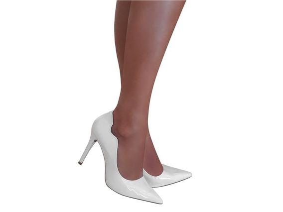 Sapato De Noiva Scarpin Branco Salto Alto Festa Formatura