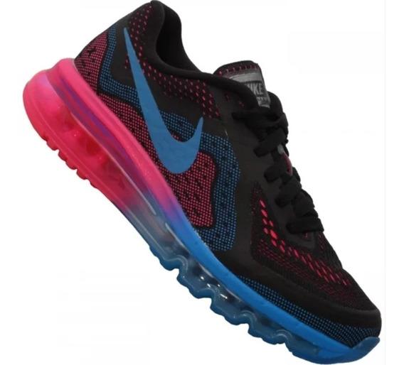 Tênis Nike Air Max 2014 Preto/pink/azul Original