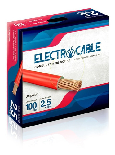 Cables Electricos Unipolar 2.5 Mm Electrocable