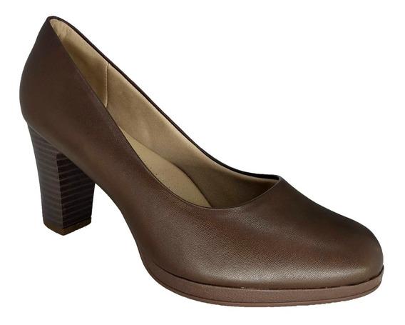 Sapato Feminino Scarpin Marrom Piccadilly 130185