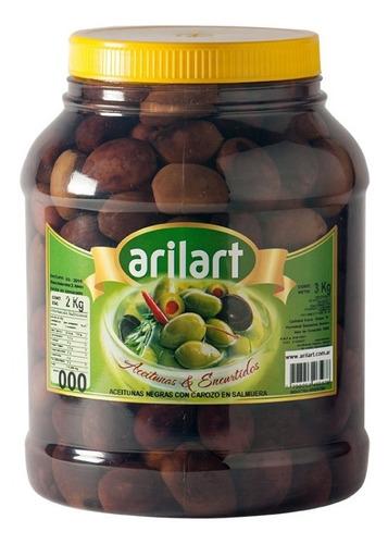 Aceitunas Negras Naturales Grandes X 2 Kg - Arilart