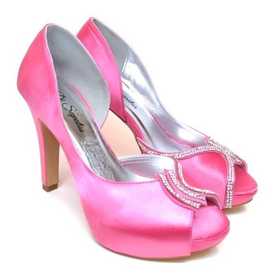 Peep Toe Festa 2075 Pink Noivas, Madrinhas E Debutantes