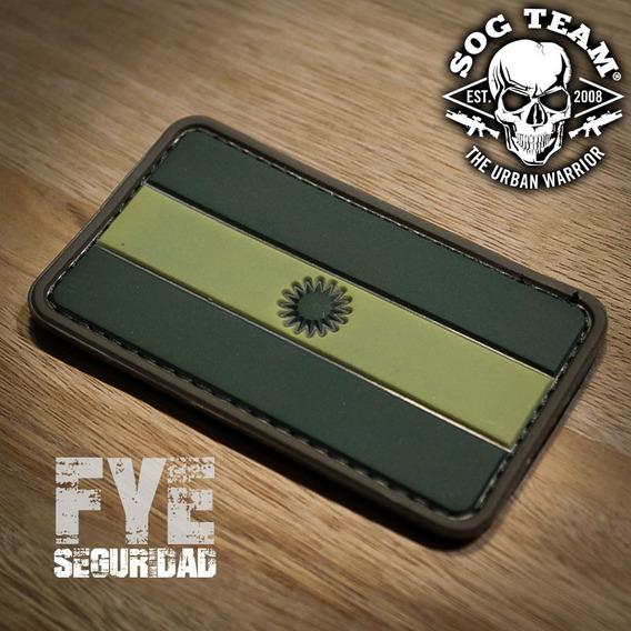 Parche Bandera Argentina Pvc Baja Visibilidad Multicam