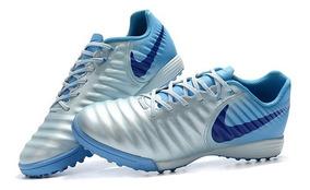 Chuteira Nike Tiempox Ligera Iv Society Original Azul Claro: