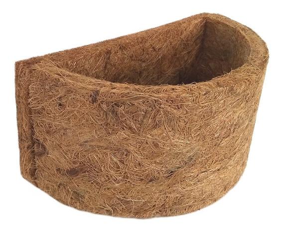 Vaso Fibra De Coco Meio Vaso Parede Ref.4016 22x11x12cm