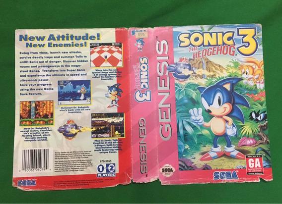 Encartes Mega Drive Genesis - Sonic 3