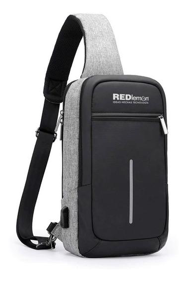 Redlemon Mochila Antirrobo Mini Impermeable Cruzada Notebook