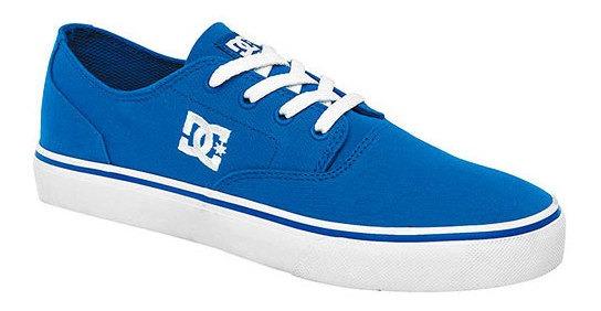 Tenis Urbano Dc Shoes Azul Textil Flash Niño 16156ipk