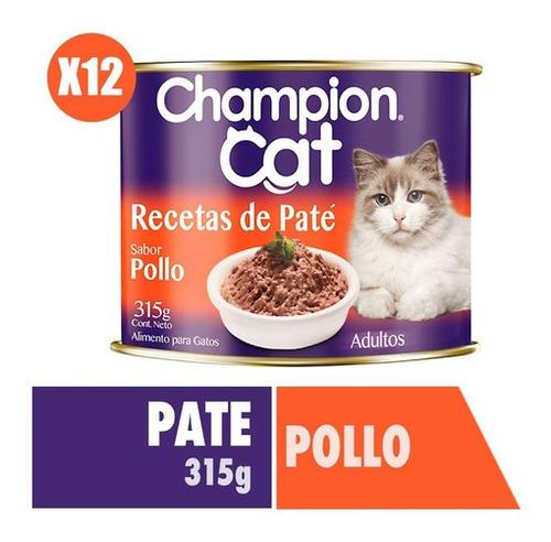 Champion Cat Recetas De Paté Pollo 12x315g