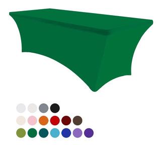Mantel Elastico Cubre Mesa Para Eventos 1.8m Verde Esmeralda
