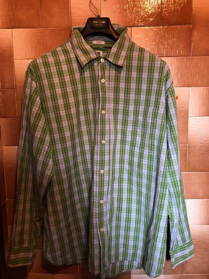 Camisa Hombre,gap, T-xxl Importada,original, A Cuadros Verde