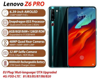 Lenovo Z6 Pro Snapdragon 855 6gb/128gb 4000mah Rom Global