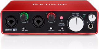 Interface Usb Focusrite Scarlett Studio 2i2 2da Generación