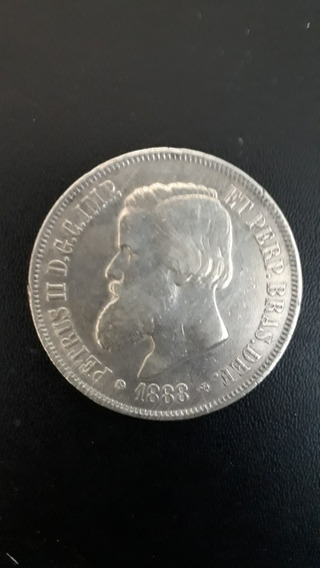 Moeda Antiga 2.000 Réis 1888 Ou 1889 Prata, 12xs/juros