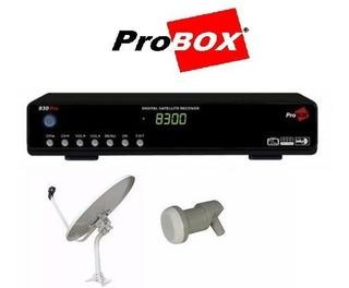 Combo Tv Satelital Fta Con Receptor 830 Pro Hd Y Antena 60cm