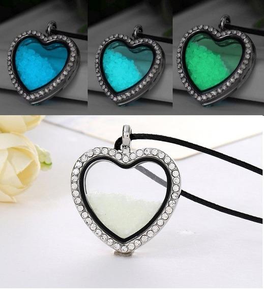 Increíble Collar De Corazón Que Brilla En Oscuridad 3 Tonos