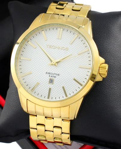 Relógio Technos Masculino Executive Dourado