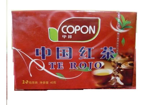 Te Rojo Copon Chino Original, Cuidado Personal X100 Unidades